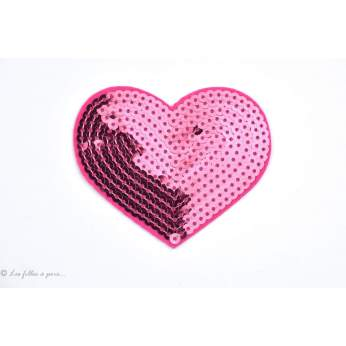 Ecusson sequin coeur - Thermocollant - 2