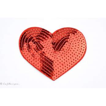 Ecusson sequin coeur - Thermocollant - 3