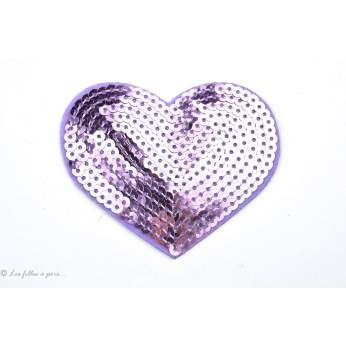 Ecusson sequin coeur - Thermocollant - 4
