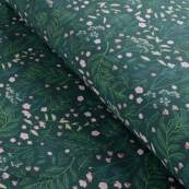 Tissu french terry coton FLOWER GARDEN - Vert forêt - Oeko-Tex ® - See You At Six ® See You At Six - 8
