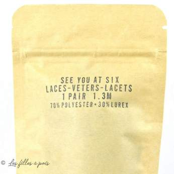 Lacets plats lurex - 130cm - Paire - See You At Six ® See You At Six - 7