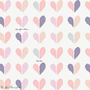 "Tissu coton motif coeur ""Ethereal Fusion"" - Blanc et tons rose - AGF ® Art Gallery Fabrics ® - 1"