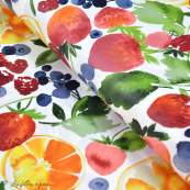 Tissu enduit ou laminé motif fruits - Multicolore - BIO - Cloud 9 ® Cloud9 Fabrics - 1