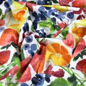 Tissu enduit ou laminé motif fruits - Multicolore - BIO - Cloud 9 ® Cloud9 Fabrics - 4