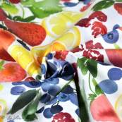 Tissu enduit ou laminé motif fruits - Multicolore - BIO - Cloud 9 ® Cloud9 Fabrics - 5