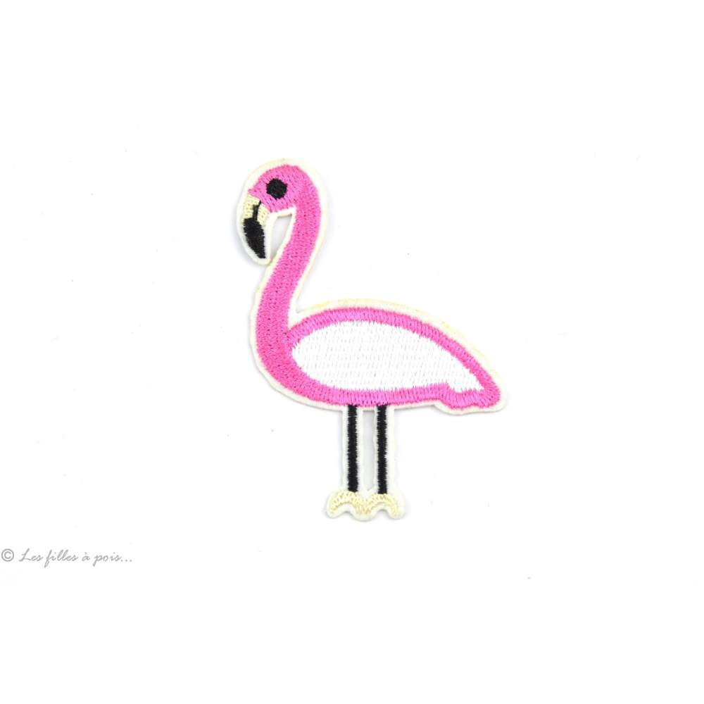 Écusson flamant rose - Rose - Thermocollant - 1