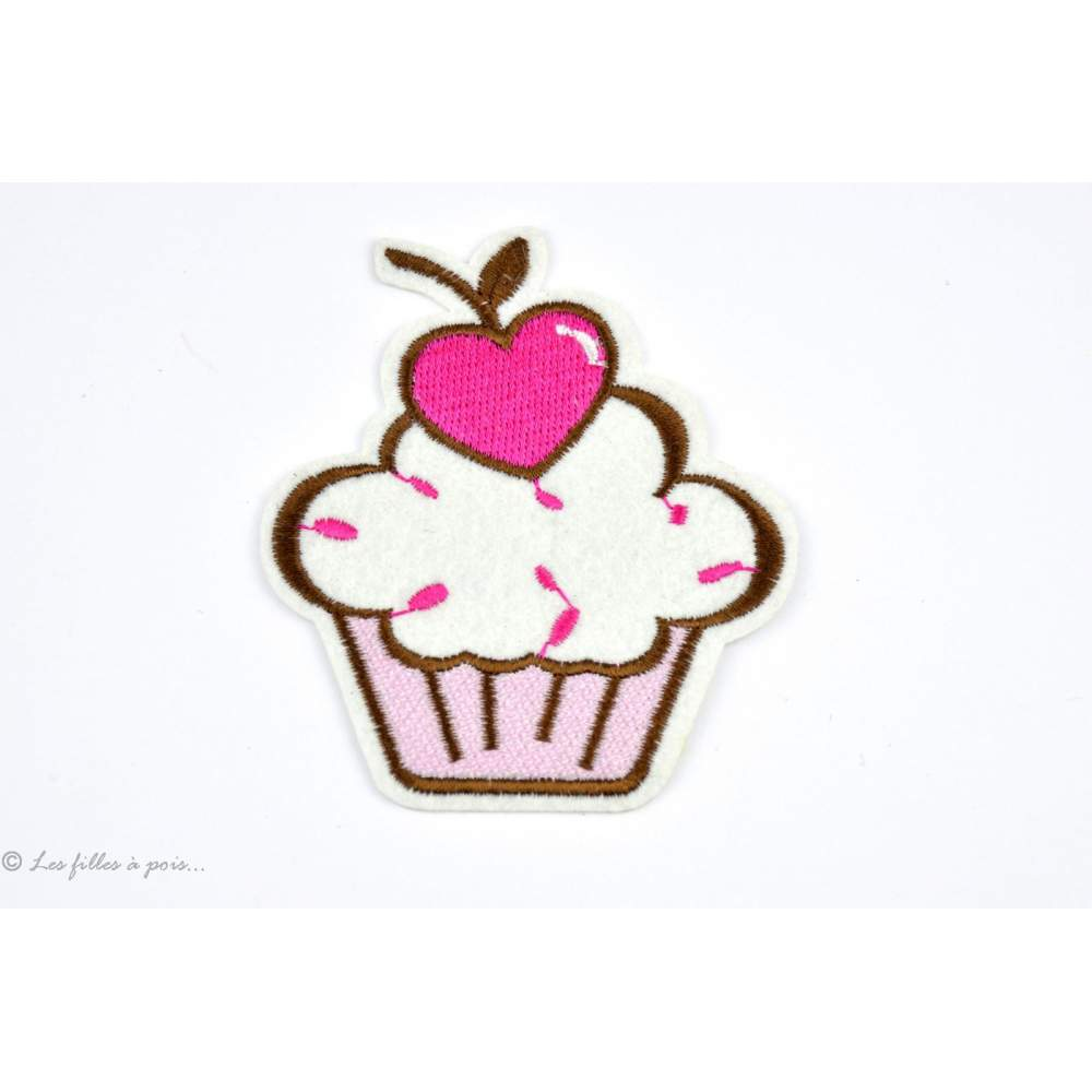 Écusson muffin - Rose - Thermocollant - 1